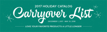 Stampin' Up! 2018 Holiday Catalog Carry Over List