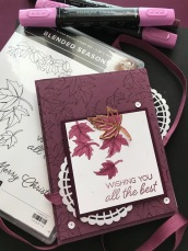 BLEND SEASONS LEAVES - AUGUST CARD