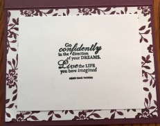 GO CONFIDENTLY INSIDE CARD