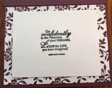 GO CONFIDENTLY INSIDE CARD