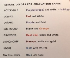 SCHOOL COLORS FOR GRADJATION